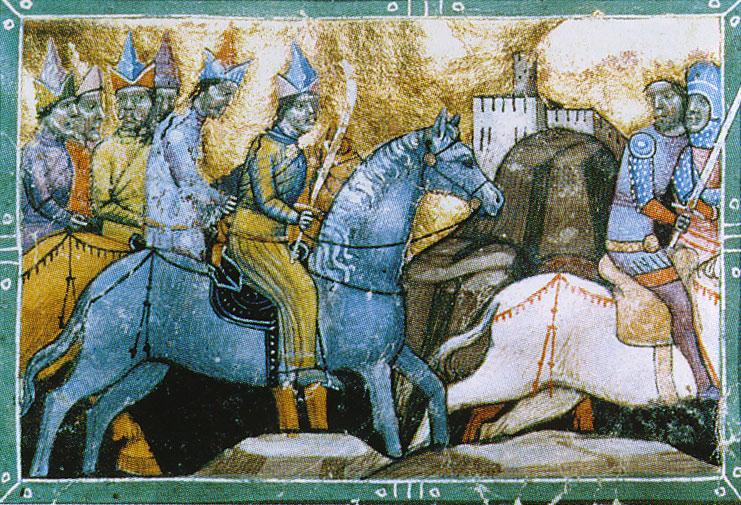Венгерский король Бела IV бежит от монгольского войска.jpg