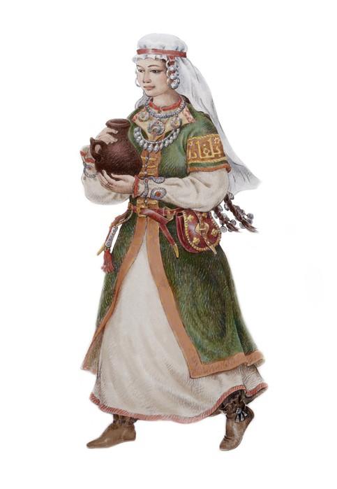 Волжские булгары числятся среди предков казанских татар. Это был тюркоязычный мусульманский народ. Булгарка от Булата Гильванова.